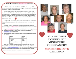 2015 HIM Food Pantry Share the Love Campaign right