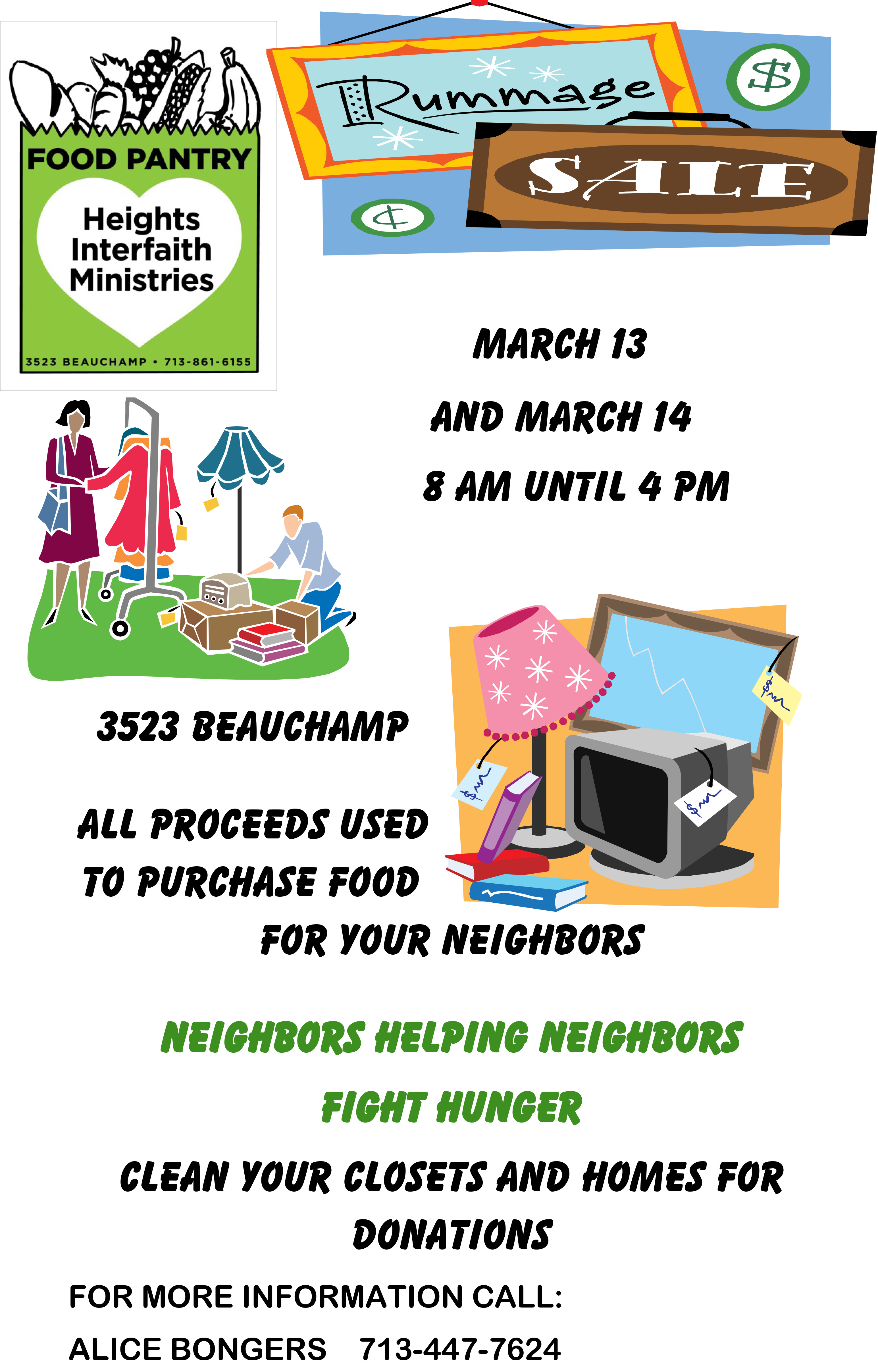 annual rummage sale coming up