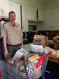 Neighborhood Boy Scouts collected food for Souper Bowl of Caring for Food Pantry.  THANK YOU1